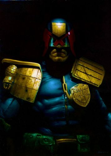 2000AD - JUDGE DREDD - BLACKOUT canvas print - self adhesive poster - photo print